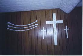 cross inside the church